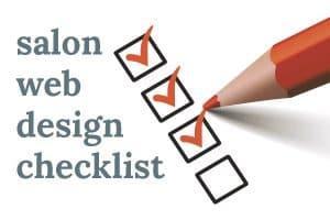 Salon web design checklist
