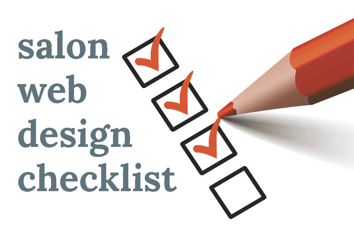 Salon Web Design checklist